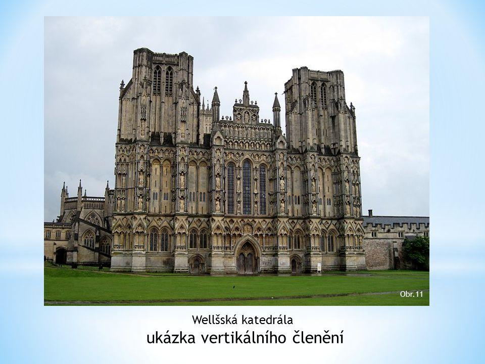 Wellšská katedrála ukázka vertikálního členění Obr.11