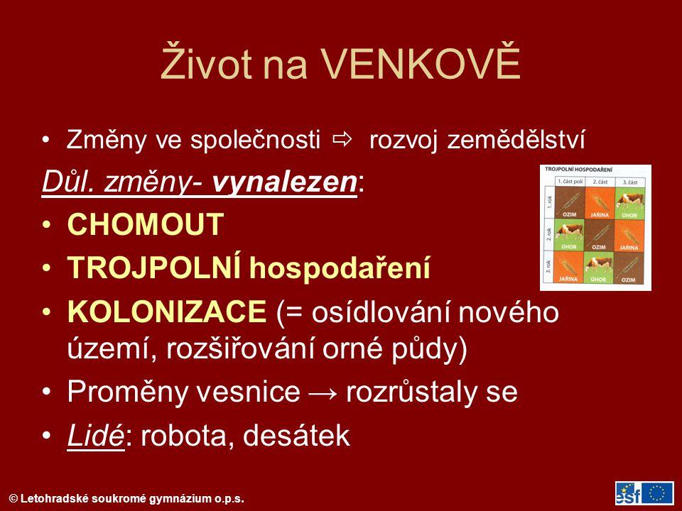 © Letohradské soukromé gymnázium o.p.s. Ulicový typ náměstí