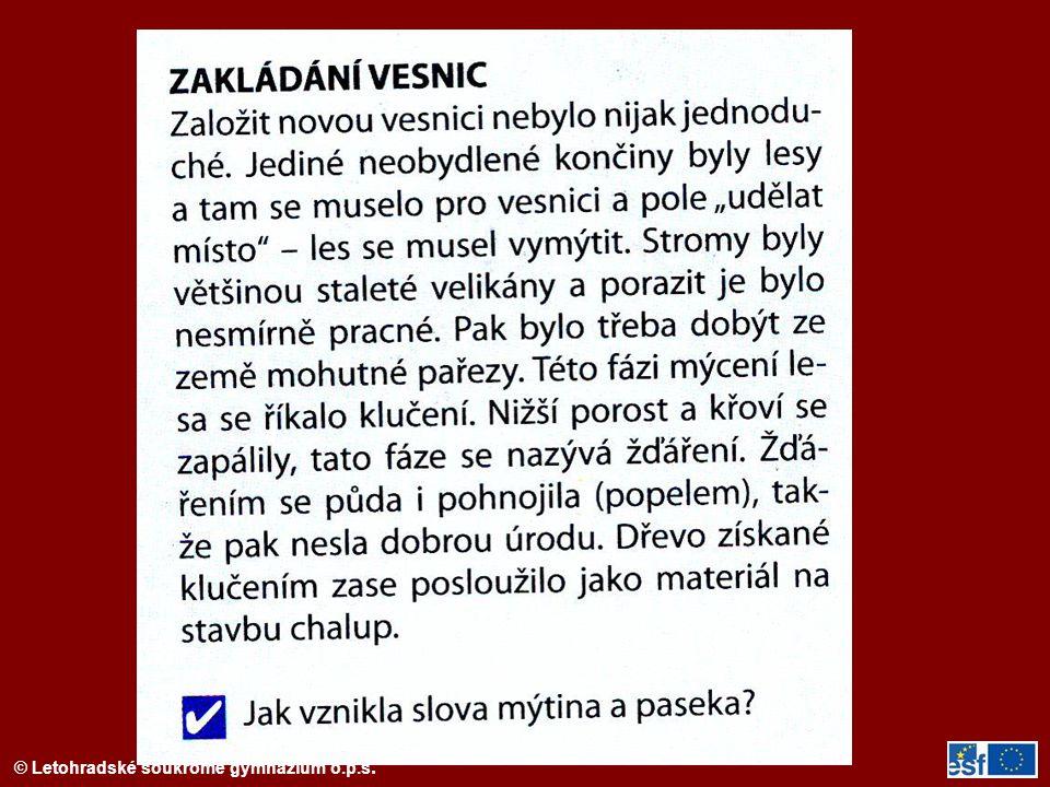 © Letohradské soukromé gymnázium o.p.s.Literatura SMETÁNKA, Zdeněk.