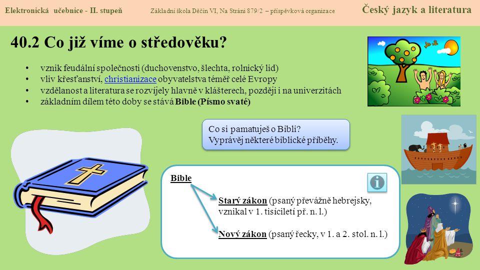 40.2 Co již víme o středověku.Elektronická učebnice - II.