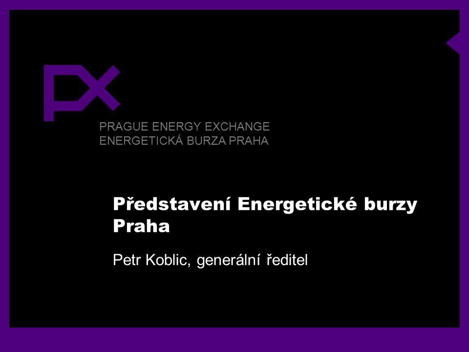 PRAGUE ENERGY EXCHANGE ENERGETICKÁ BURZA PRAHA Představení Energetické burzy Praha Petr Koblic, generální ředitel