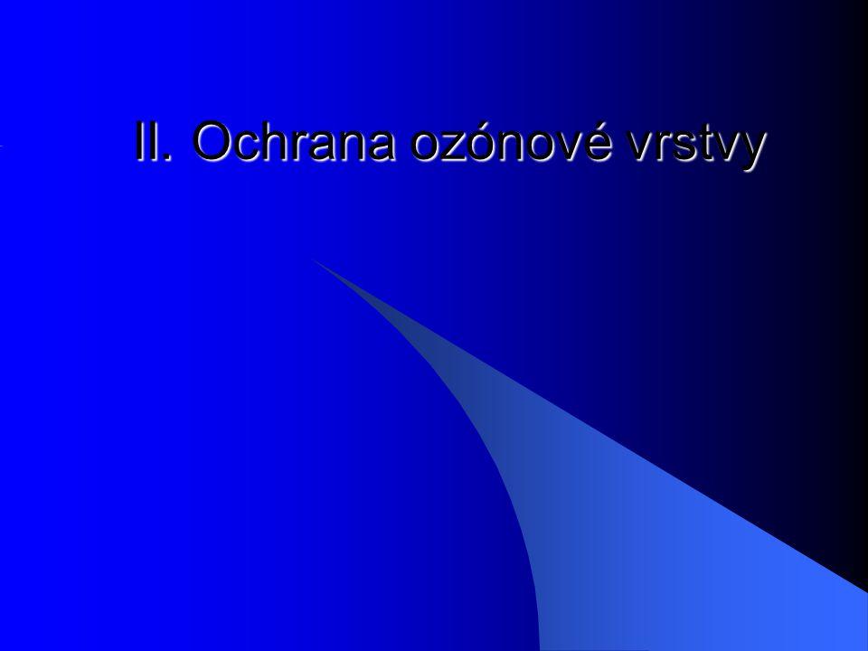 II. Ochrana ozónové vrstvy
