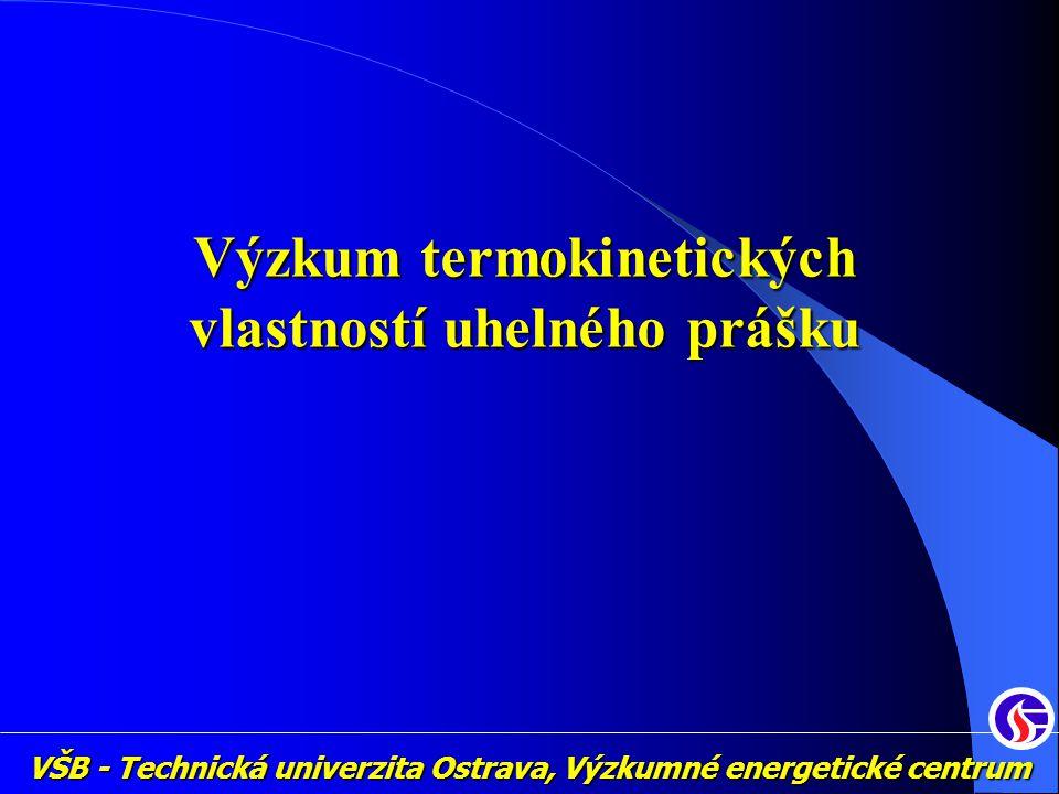 VŠB - Technická univerzita Ostrava, Výzkumné energetické centrum Výzkum termokinetických vlastností uhelného prášku