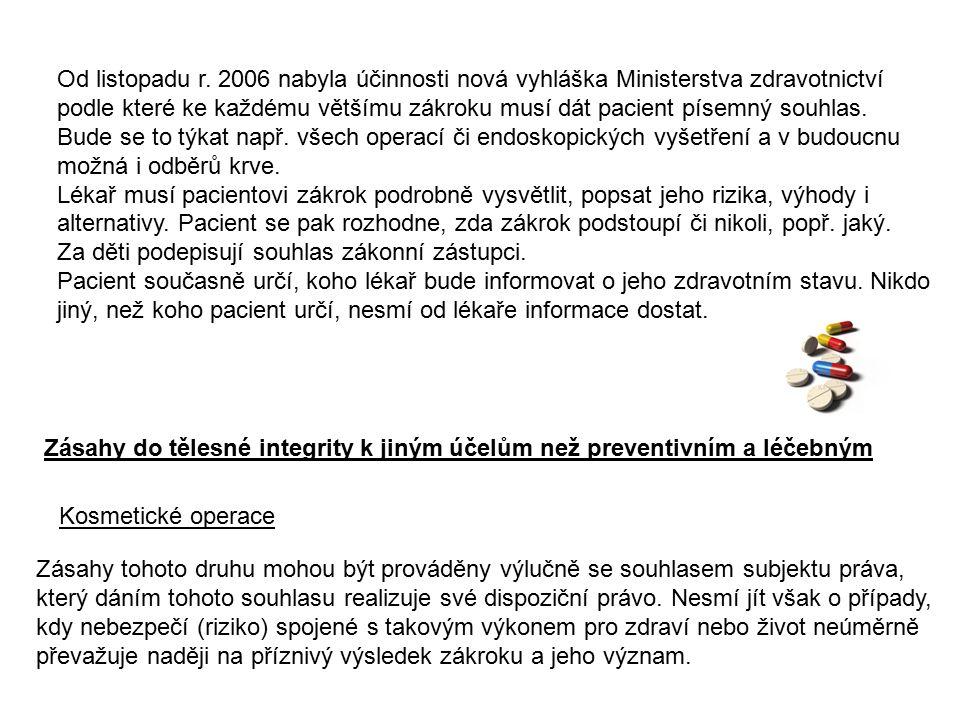 Umělé přerušení těhotenství - Upraveno zákonem č.