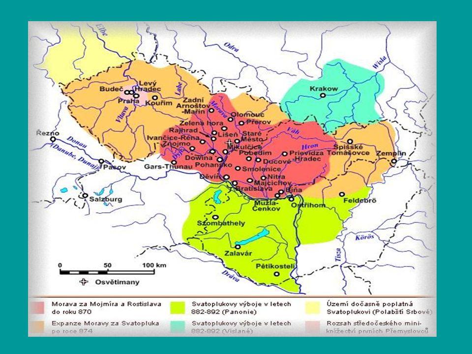 3.Panovníci Mojmír I. - 830.
