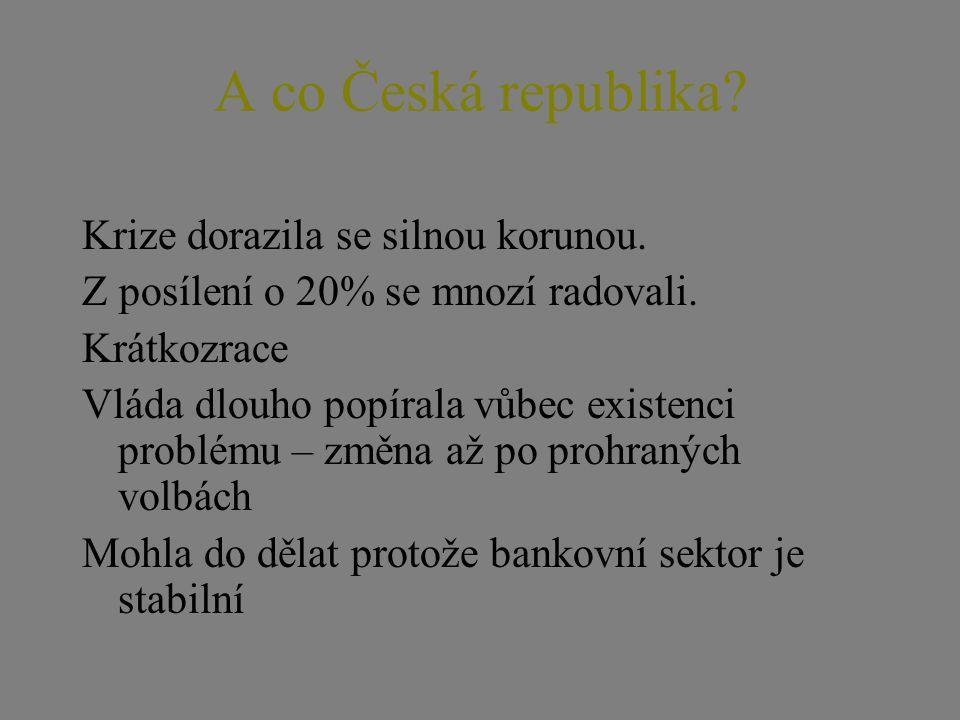 Co dělat v ČR: Euro Euro prochází testem, který se přál pan president Pro ČR to znamená pokračovat dále.
