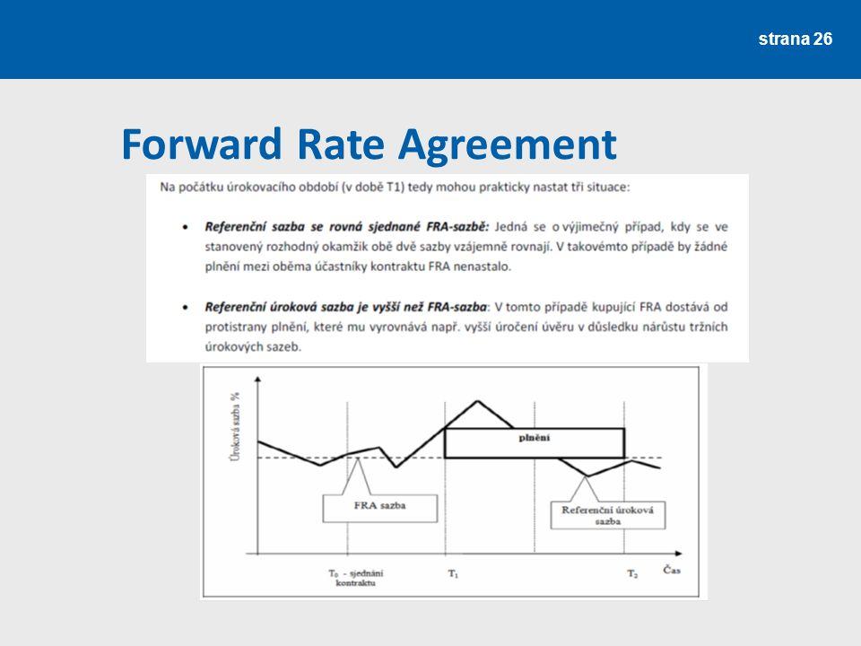 strana 26 Forward Rate Agreement