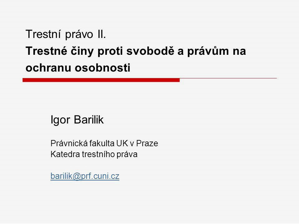 Trestní právo II.