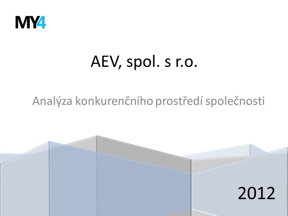 AEV, spol. s r.o. Analýza konkurenčního prostředí společnosti 2012