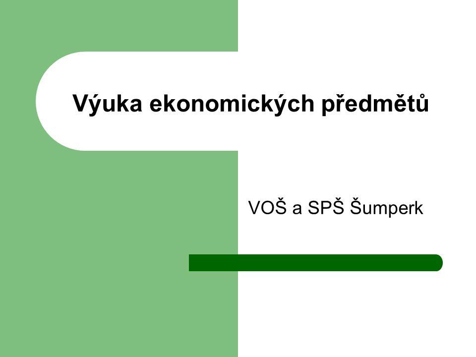 Výuka ekonomických předmětů VOŠ a SPŠ Šumperk