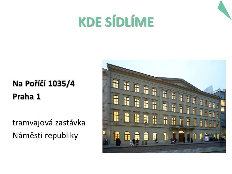 KDE SÍDLÍME Na Poříčí 1035/4 Praha 1 tramvajová zastávka Náměstí republiky