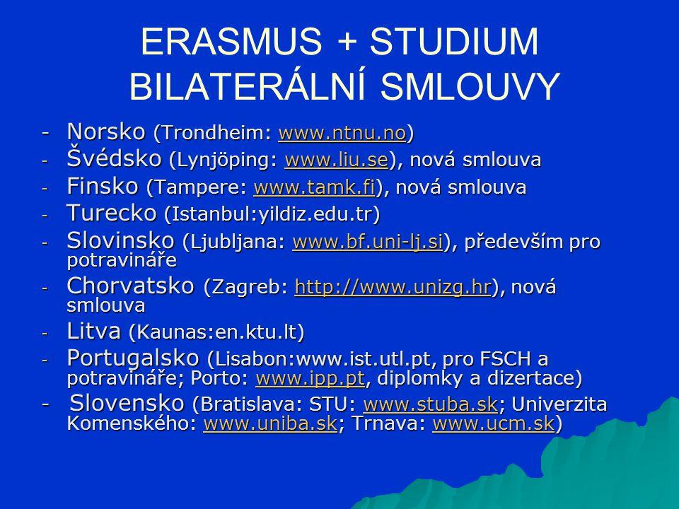 - tzv. EILC kurzy - od roku 14/15 zrušeny JAZYKOVÉ KURZY V RÁMCI PROGRAMU ERASMUS