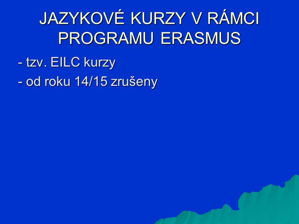 ERASMUS + STÁŽ - - do laboratoře na univerzitu (bilaterální smlouva) - - do firmy (v kompetenci stážisty) .