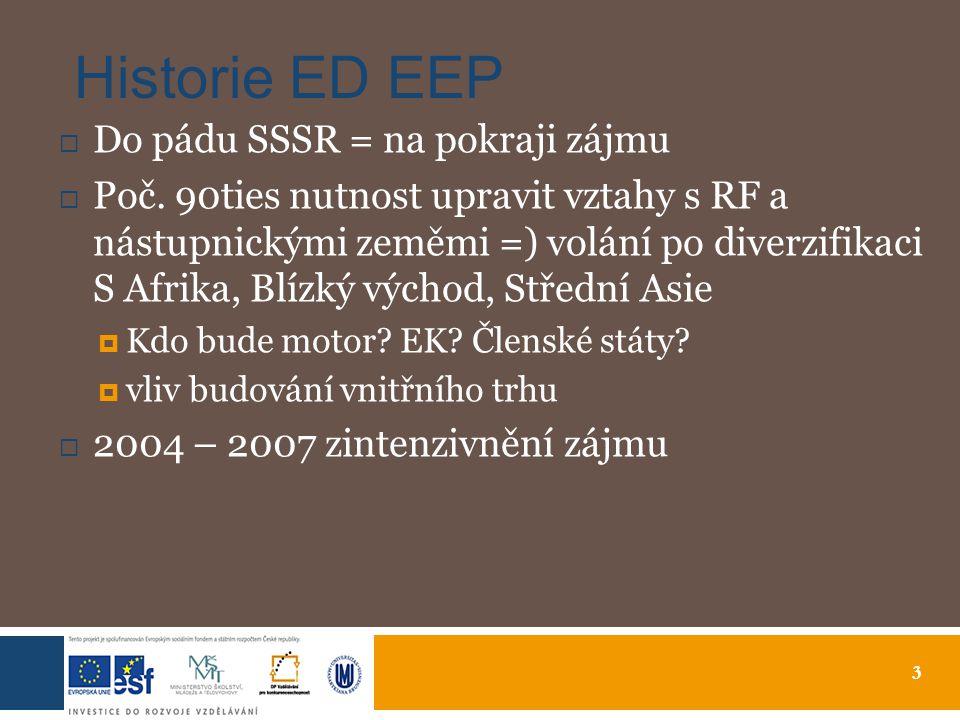 3 Historie ED EEP  Do pádu SSSR = na pokraji zájmu  Poč.
