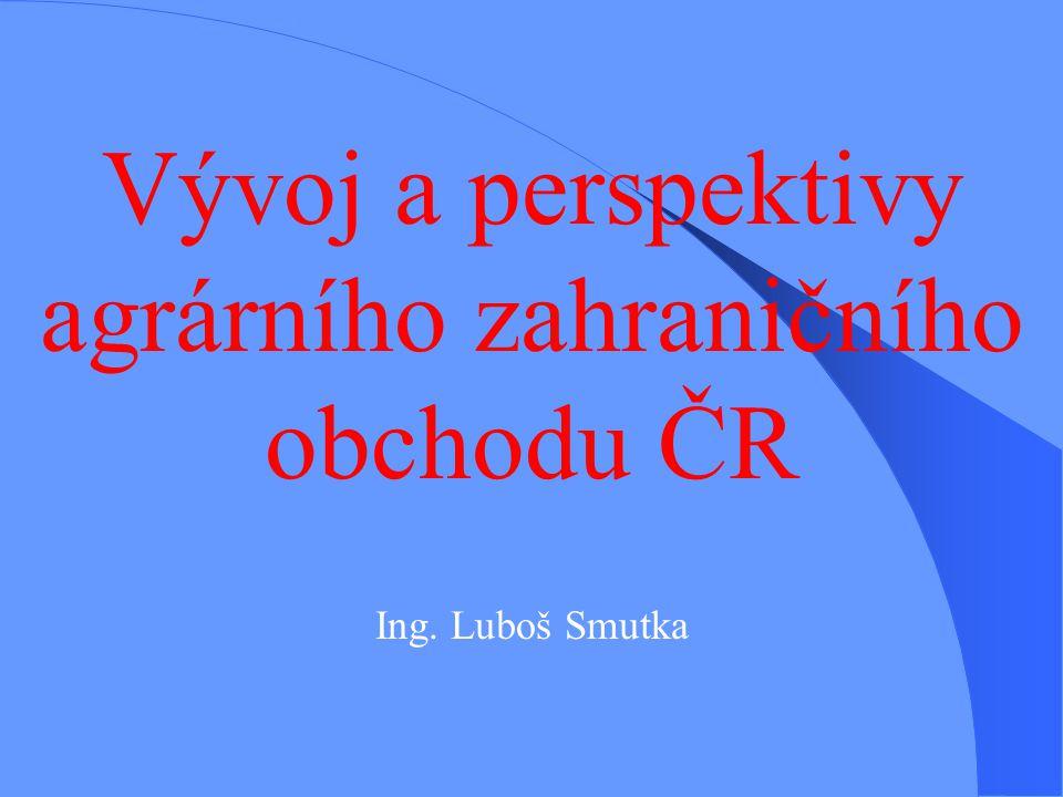 Vývoj a perspektivy agrárního zahraničního obchodu ČR Ing. Luboš Smutka