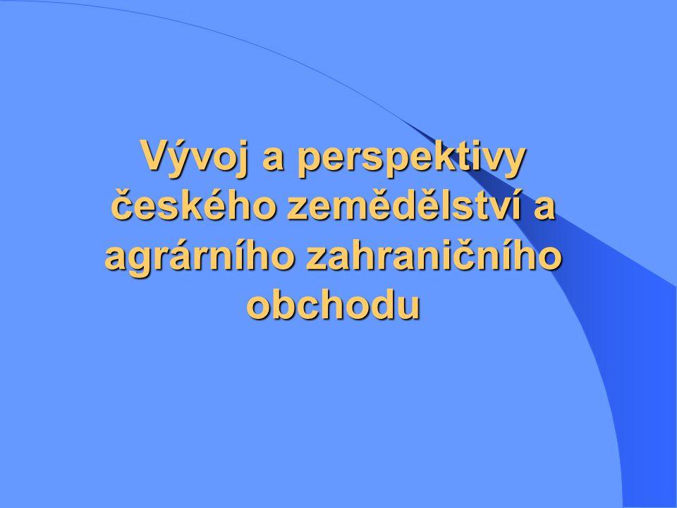Vývoj a perspektivy českého zemědělství a agrárního zahraničního obchodu