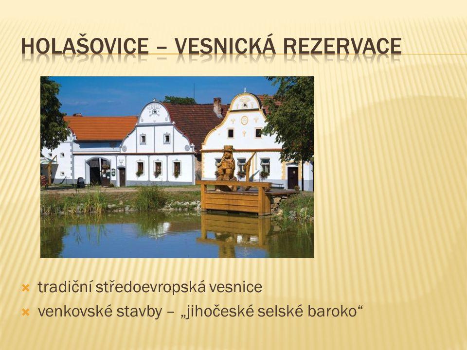 """ tradiční středoevropská vesnice  venkovské stavby – """"jihočeské selské baroko"""