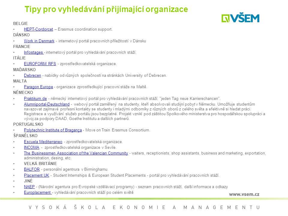 Tipy pro vyhledávání přijímající organizace BELGIE HEPT-Cordorcet – Erasmus coordination support.HEPT-Cordorcet DÁNSKO Work in Denmark - internetový p