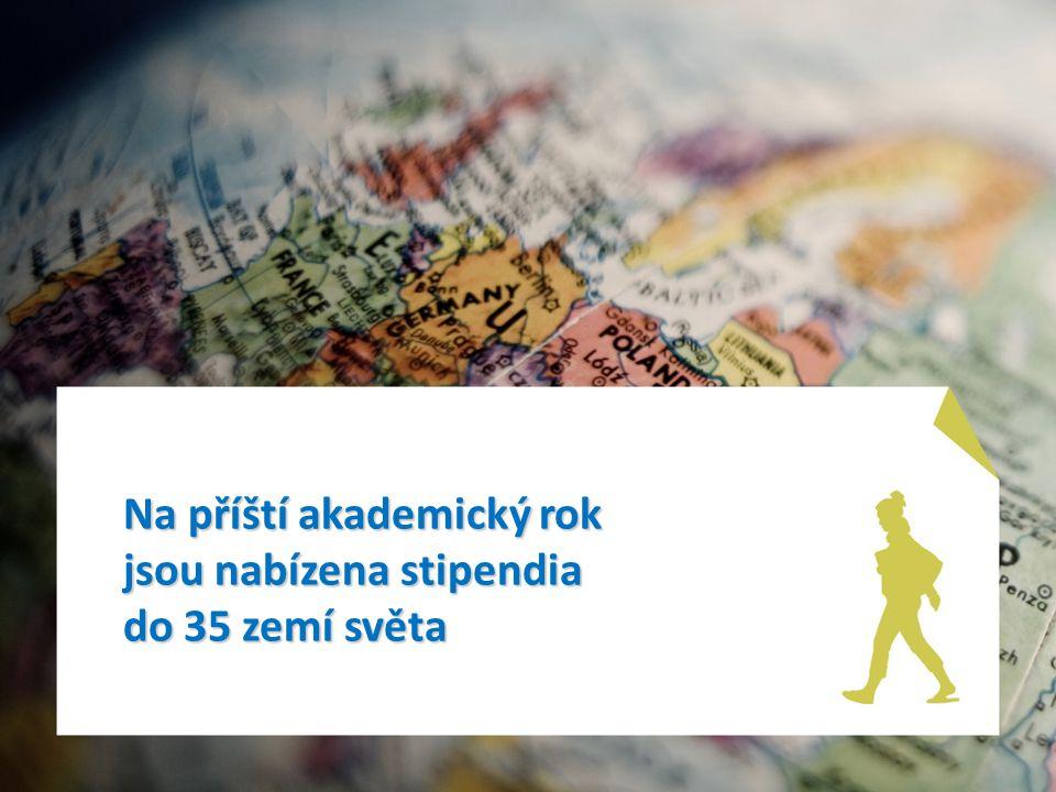 Na příští akademický rok jsou nabízena stipendia do 35 zemí světa