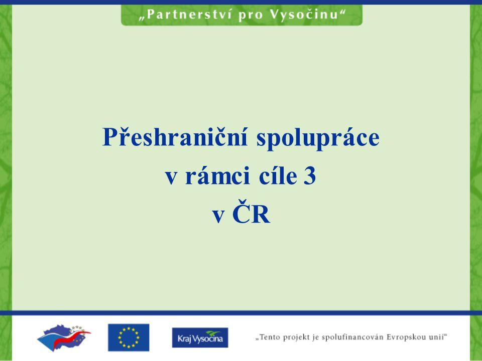 Přeshraniční spolupráce v rámci cíle 3 v ČR