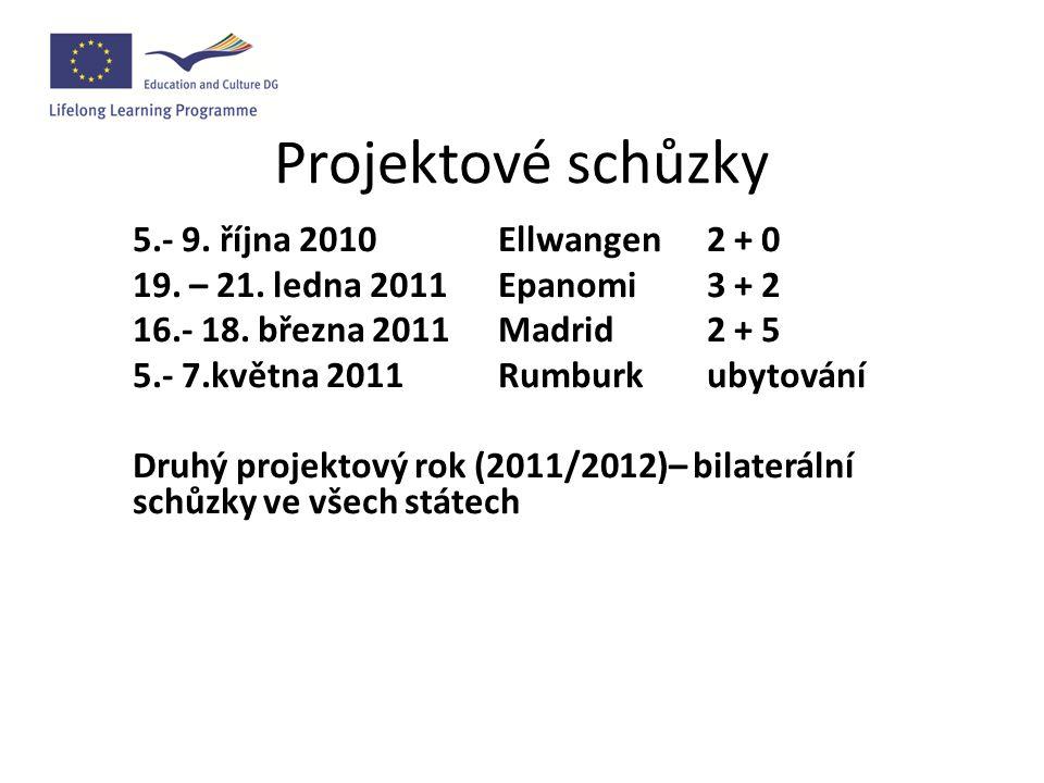 Setkání s účastníky projektu Termín: středa 3.11.