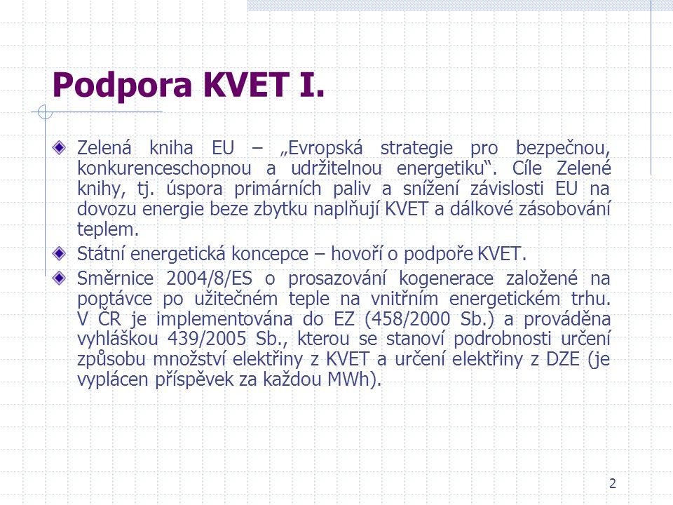 3 Podpora KVET II.Pravidla pro implementaci Směrnice 2004/8/ES.