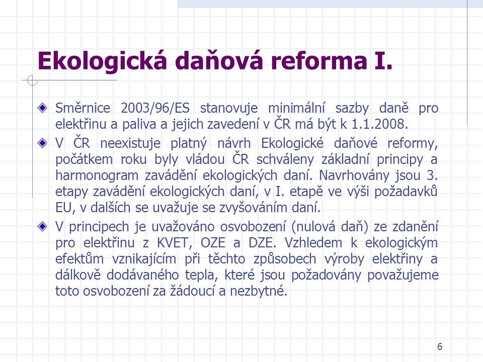 6 Ekologická daňová reforma I.