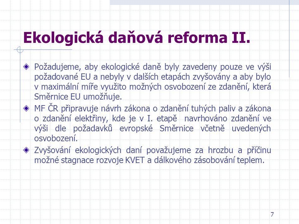 7 Ekologická daňová reforma II.
