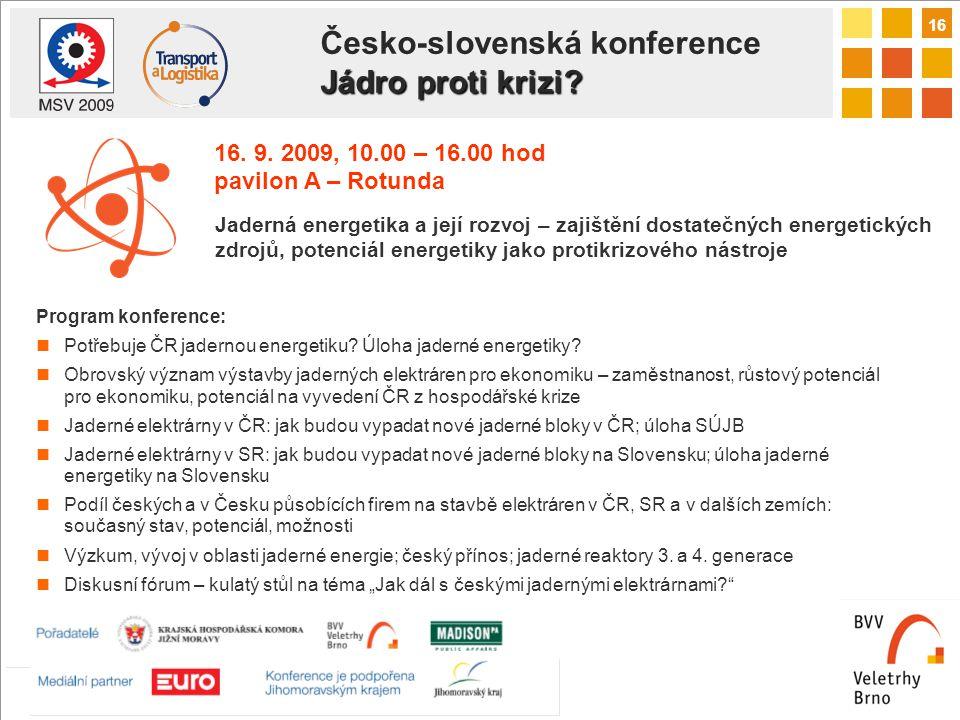 16 Jádro proti krizi. Česko-slovenská konference Jádro proti krizi.