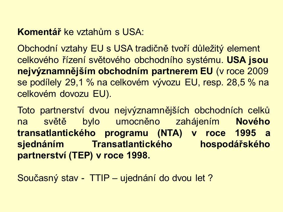 8) Zacházení dle doložky nejvyšších výhod (DNV) Obchodně politický režim na bázi doložky nejvyšších výhod má EU vůči všem vyspělým tržním ekonomikám v