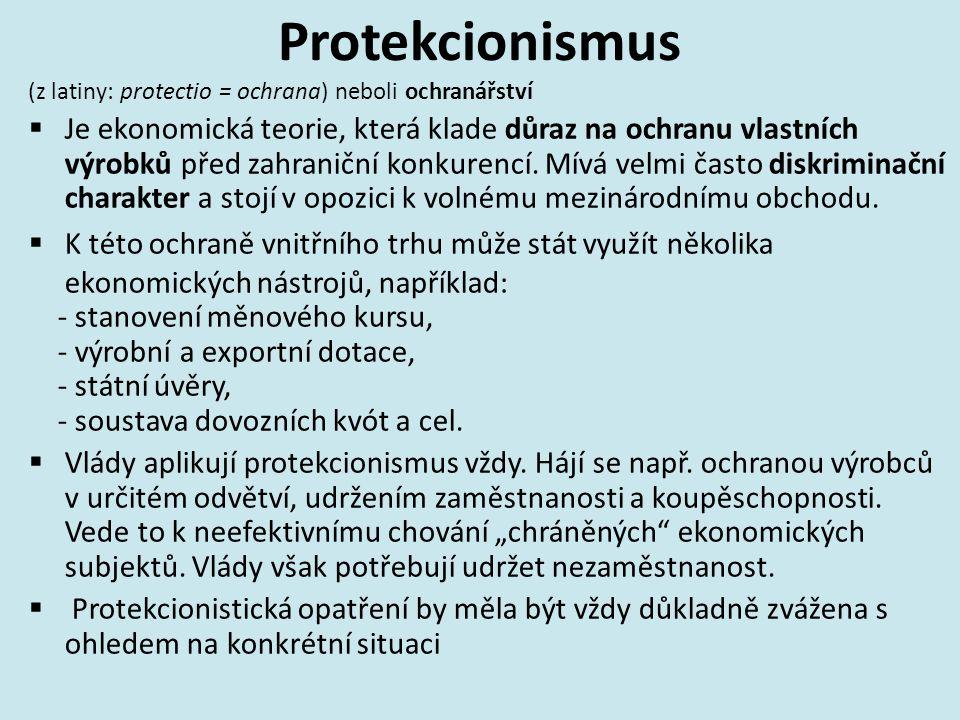 Protekcionismus (z latiny: protectio = ochrana) neboli ochranářství  Je ekonomická teorie, která klade důraz na ochranu vlastních výrobků před zahraniční konkurencí.