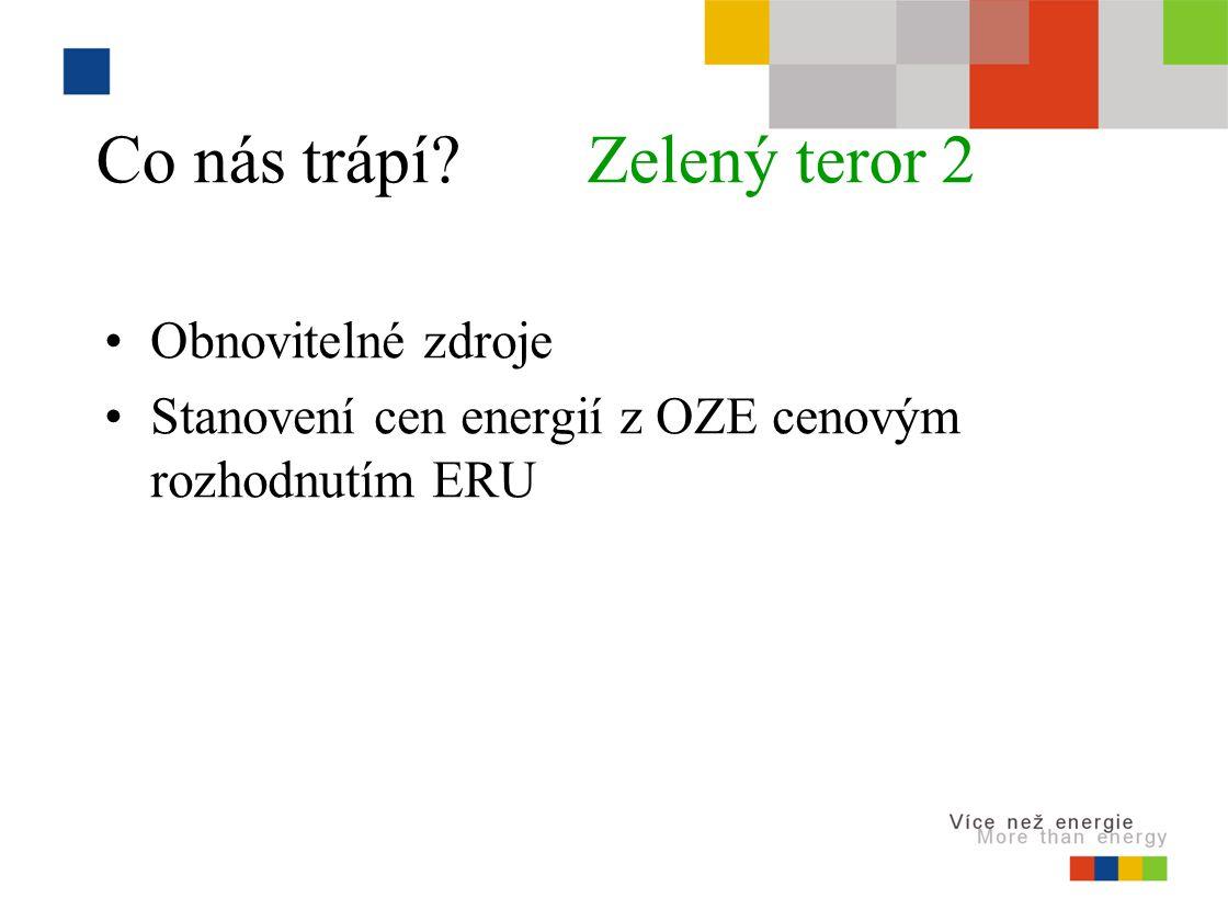 Co nás trápí Zelený teror 2 Obnovitelné zdroje Stanovení cen energií z OZE cenovým rozhodnutím ERU