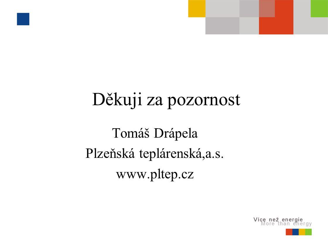 Děkuji za pozornost Tomáš Drápela Plzeňská teplárenská,a.s. www.pltep.cz