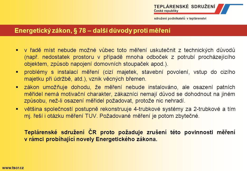 """sdružení podnikatelů v teplárenství www.tscr.cz Energetický zákon, § 86 – návrh novely a návrh doplnění (červeně) Při projednávání v Hospodářském výboru došlo k přijetím pozměňovacího návrhu – doplnění § 86 """"Přeložky rozvodných tepelných zařízení v odst."""