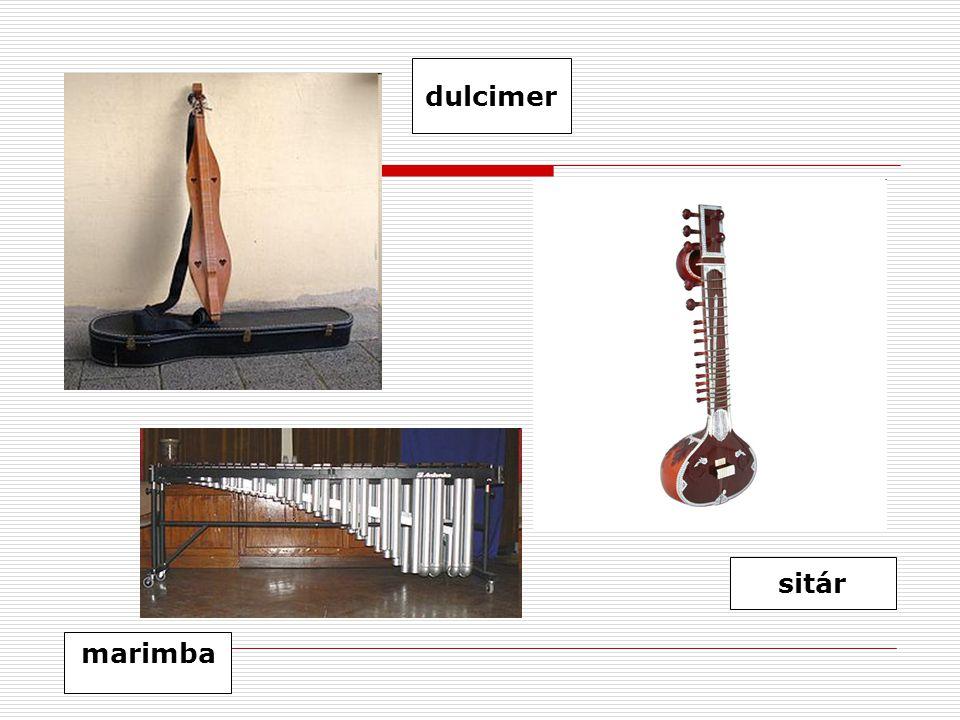 marimba sitár dulcimer