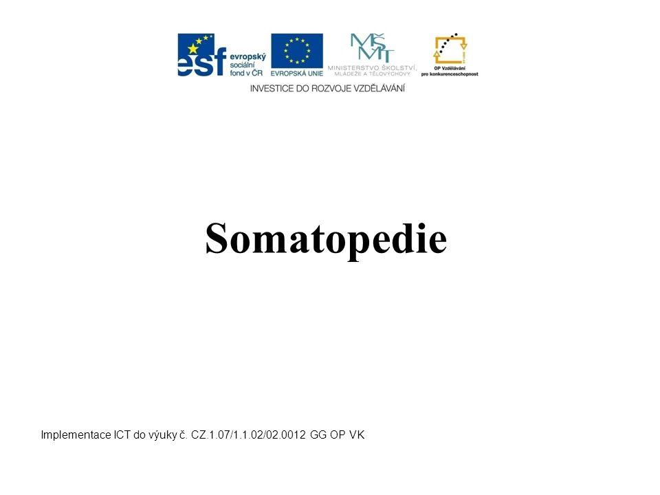 Somatopedie Implementace ICT do výuky č. CZ.1.07/1.1.02/02.0012 GG OP VK
