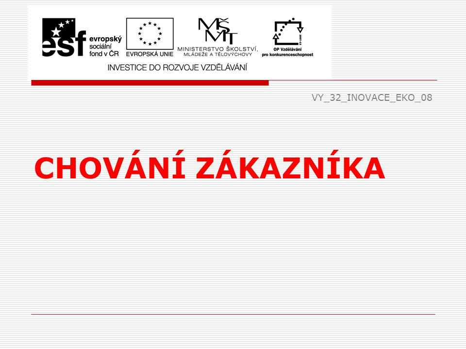 VY_32_INOVACE_EKO_08 CHOVÁNÍ ZÁKAZNÍKA