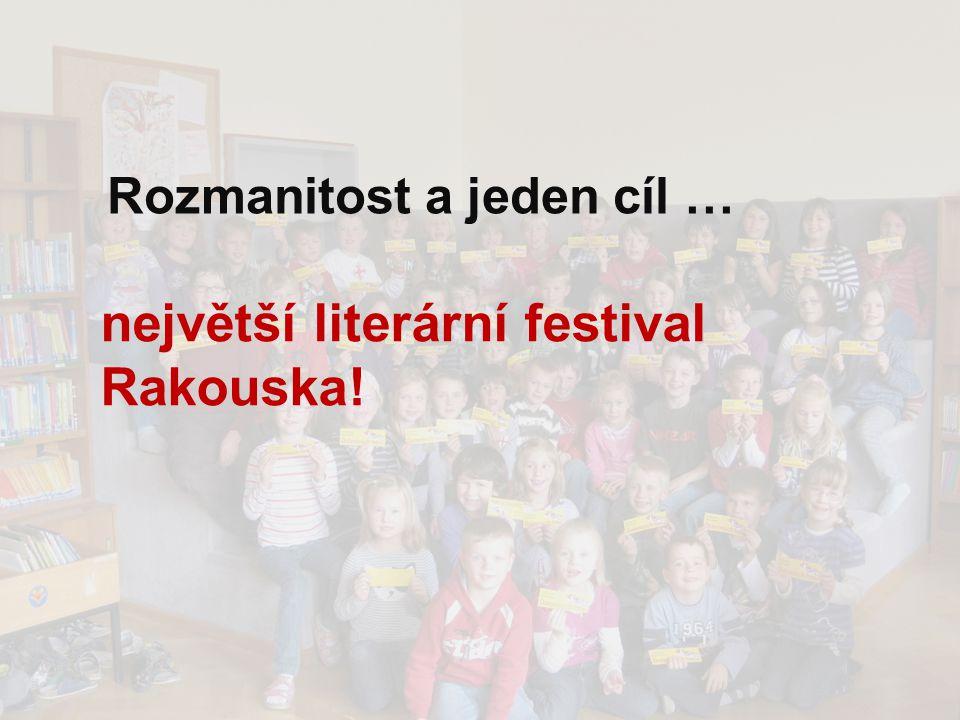 Rozmanitost a jeden cíl … největší literární festival Rakouska!