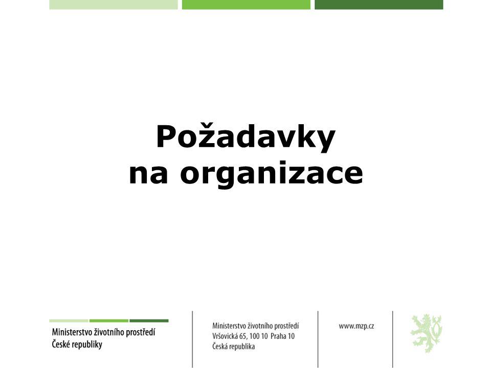Požadavky na organizace