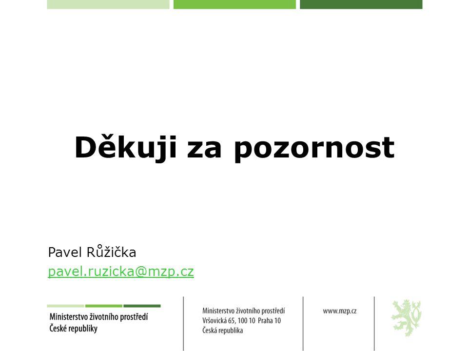Děkuji za pozornost Pavel Růžička pavel.ruzicka@mzp.cz