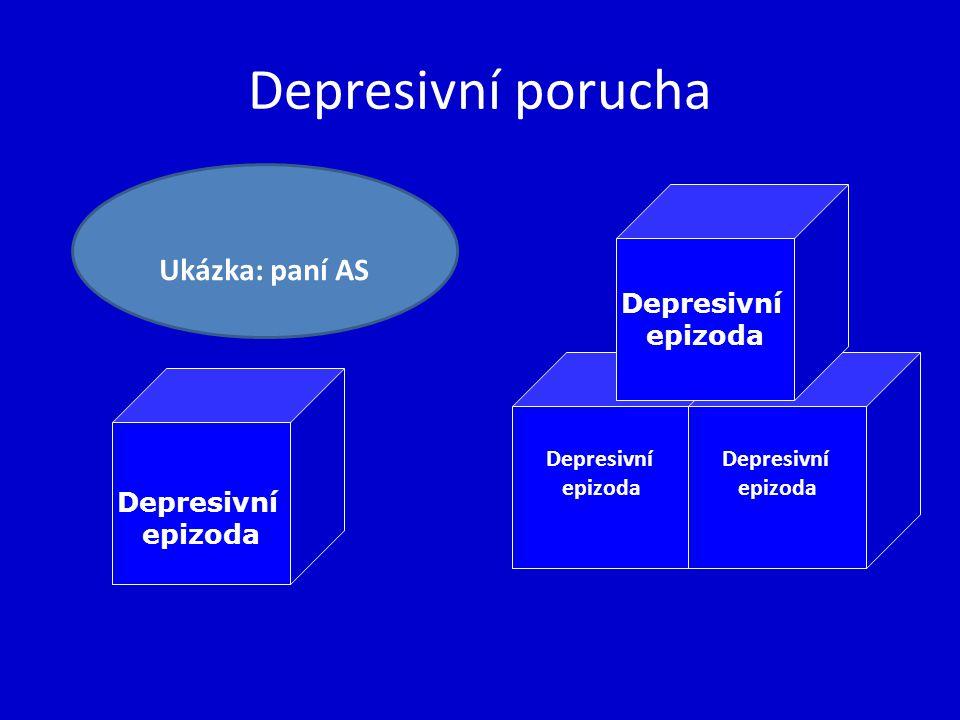 Depresivní porucha Depresivní epizoda Depresivní epizoda Depresivní epizoda Depresivní epizoda Ukázka: paní AS