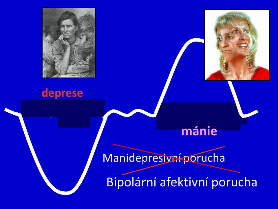 deprese mánie Manidepresivní porucha Bipolární afektivní porucha