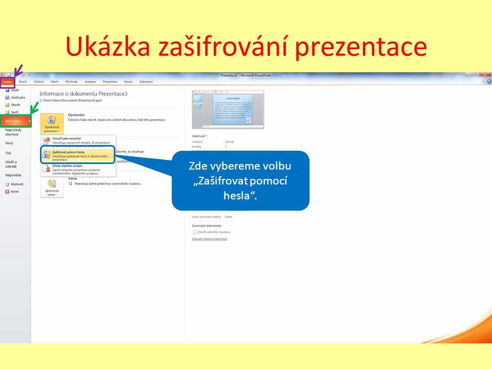 Úkol Vytvořte krátkou prezentaci, nebo ji najděte na Internetu a pokuste se vyvolat tisk osnovy.
