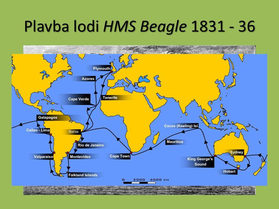 Plavba lodi HMS Beagle 1831 - 36