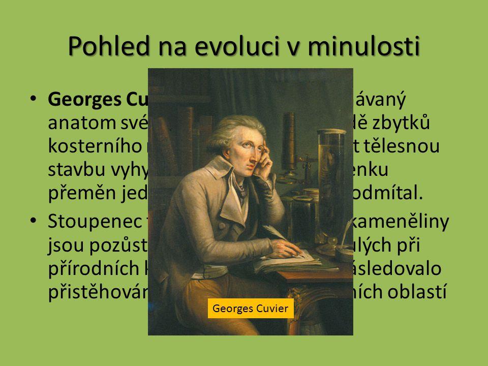 Pohled na evoluci v minulosti Georges Cuvier (1769 – 1832).