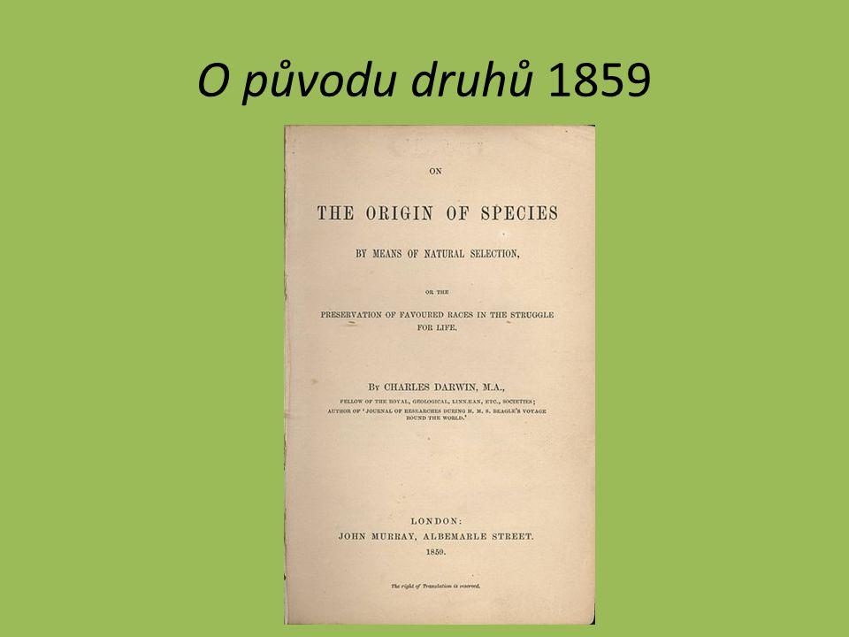 O původu druhů 1859