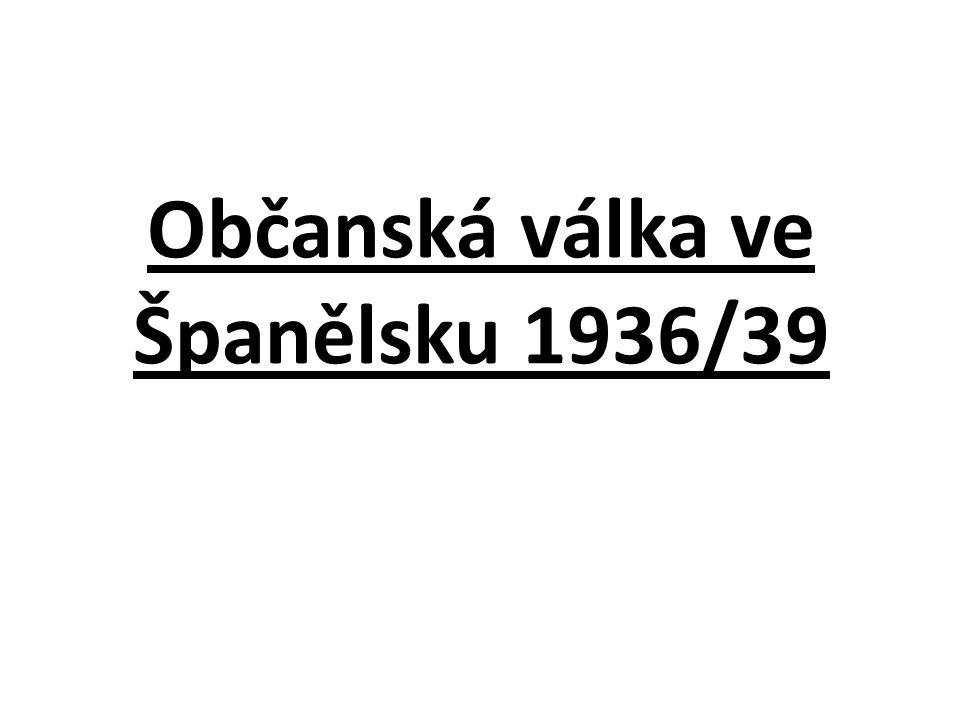 Občanská válka ve Španělsku 1936/39