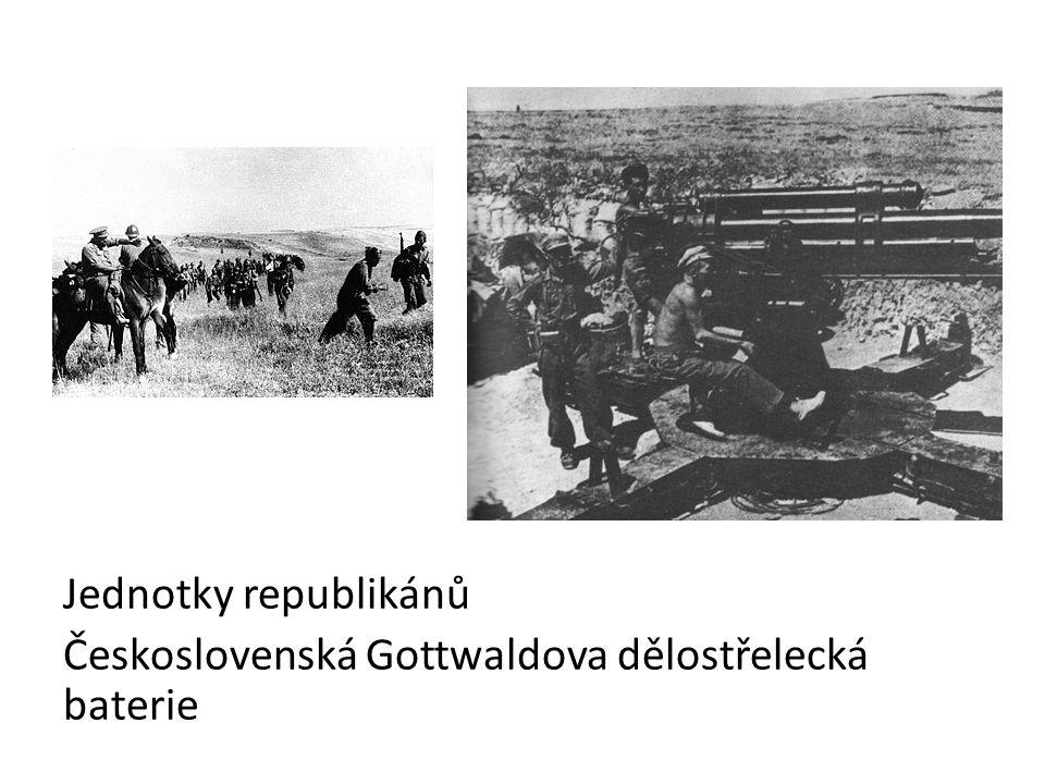 Jednotky republikánů Československá Gottwaldova dělostřelecká baterie