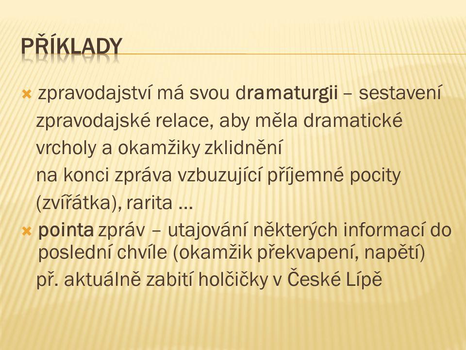  výstup redaktora na závěr zpráv (STAND UP) – př.