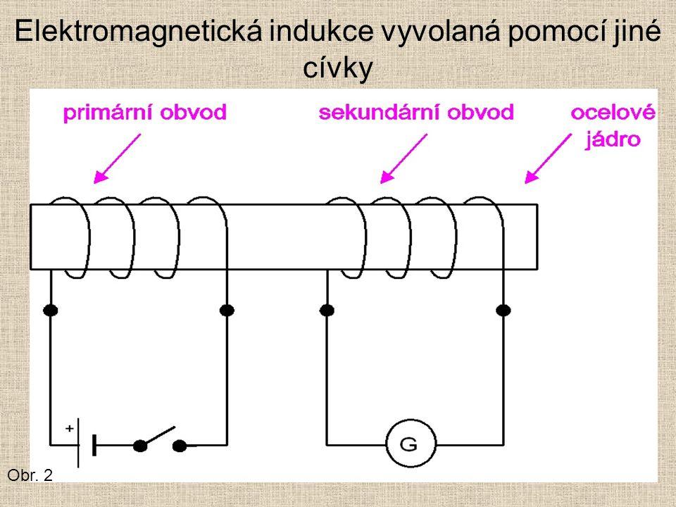 Elektromagnetická indukce vyvolaná pomocí jiné cívky Obr. 2